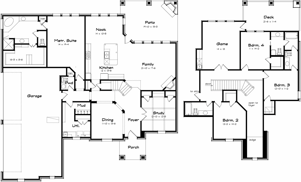 Hilltop texas best house plans by creative architects for Best house floor plans