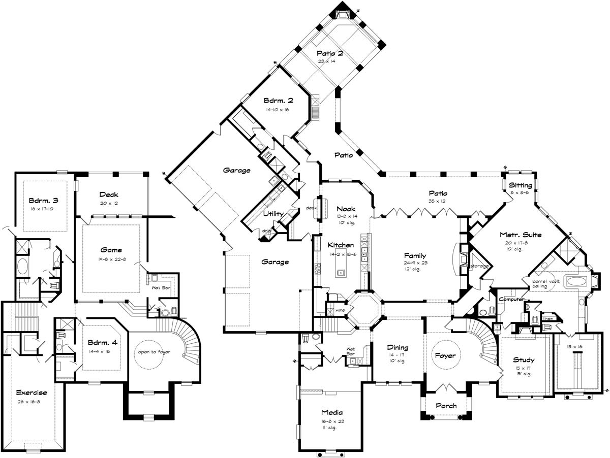 San javier texas best house plans by creative architects for Best house designs