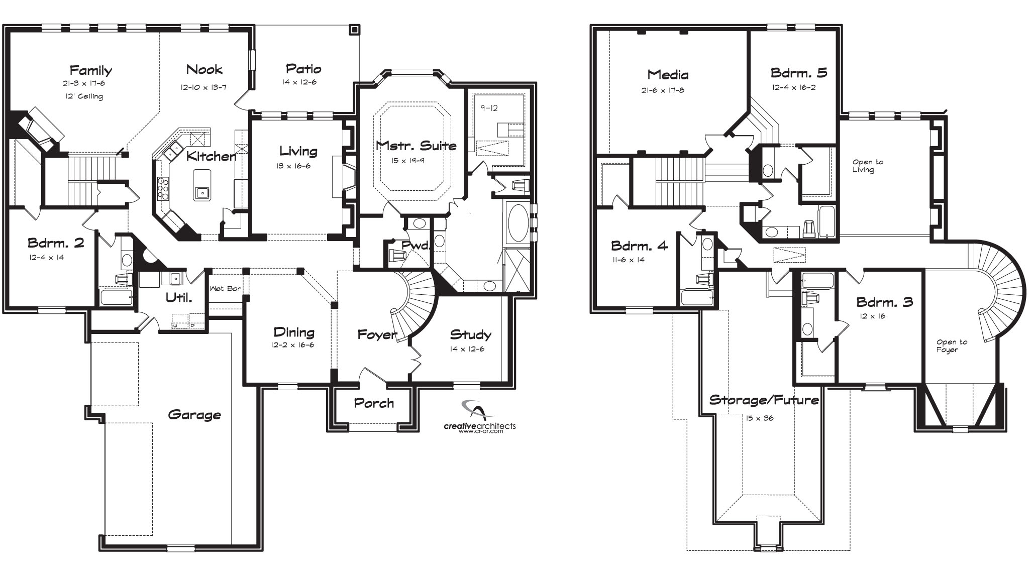 Eastwood texas best house plans by creative architects for Two story house plans