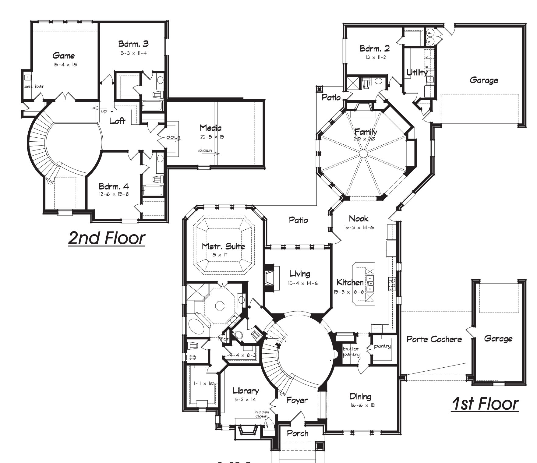 House plans with hidden rooms home decorating ideas for Creative floor plans
