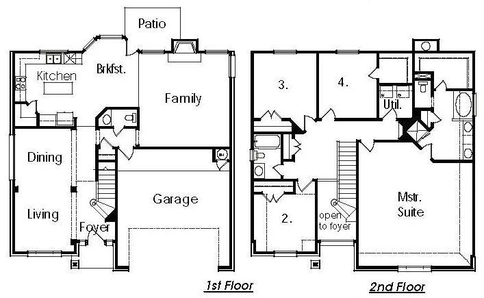 Upstair house plans escortsea for Upstairs floor plans
